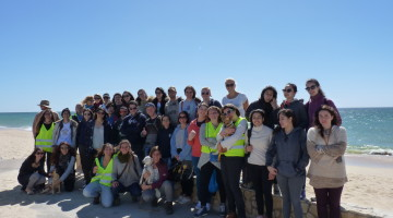 Um dos objetivos da Straw Patrol é organizar ações mensais de limpeza de praias. Já esteve na Praia da Faro (foto) e vai estar na Armona (®DR)