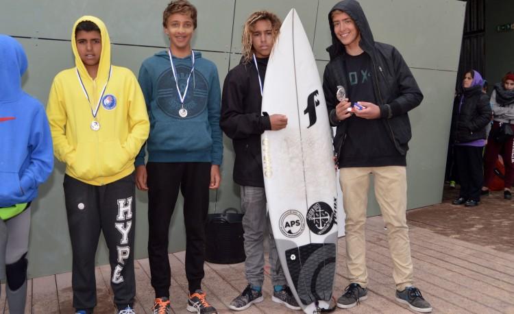 Pódio Iniciados Surf Masculino (®PauloMarcelino)