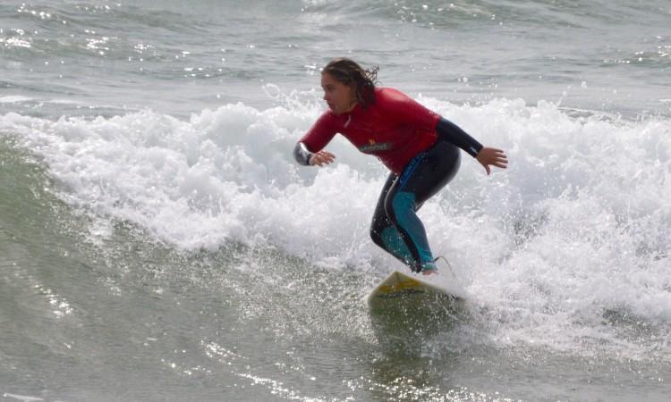 Yolanda Hopkins na final Open Feminino, que ganhou, este domingo, na Praia da Rocha (®PauloMarcelino)