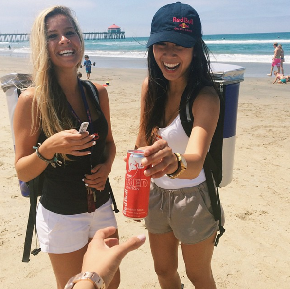 Wing Girls Red Bull vão estar na praia no dia 23 (®DR)