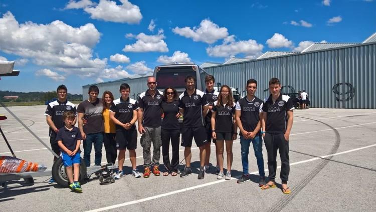 Equipa do Kayak Clube Castores do Arade que participou na Taça de Portugal e Velocidade em Canoagem (®KCCA)