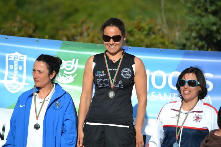 Ana Bebiano, atleta KCCA, venceu na categoria SS-1 Vet-A feminino (®KCCA)