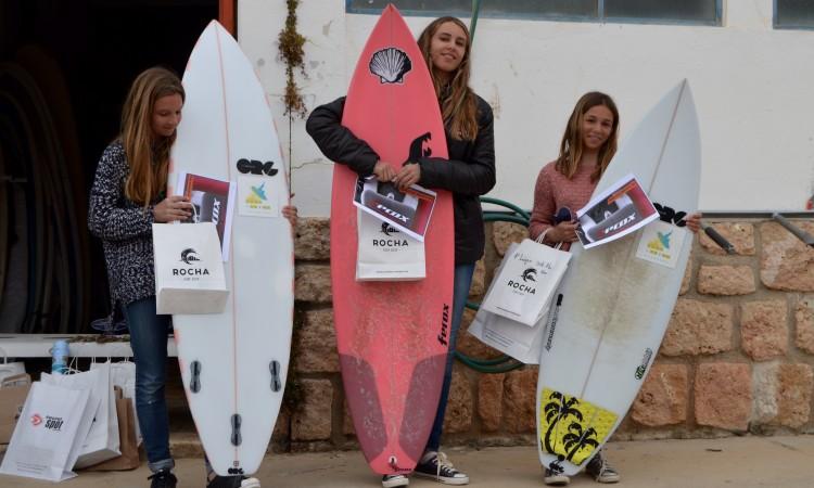 Pódio Sub-16 Feminino (falta Laura Ferreira), 3ª Etapa CRSSul 2016, Praia da Rocha (®PauloMarcelino)