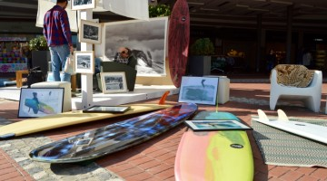 The event at the biggest mall in the regional capital city of the Algarve gathered three great surf 'shapers' (®PauloMarcelino)
