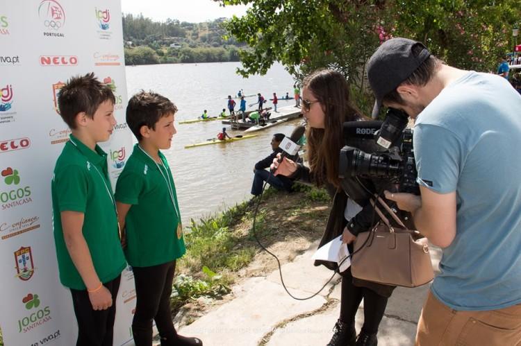 Gustavo Madeira & Jorge Rodrigues conquistaram Medalha de Ouro para o GDAlcoutim em K2 Menor (®VitorTeixeira/GDAlcoutim)
