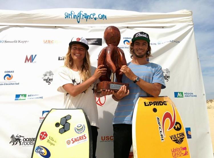 Joana Schenker e Pierre Louis Costes, os campeões do La Salie Pro 2016 (®ESF)