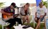 Andrew Kidman, Rusty Miller, João Rei; momento musical que encerrou o Sagres Surf Culture 2016 (®PauloMarcelino)