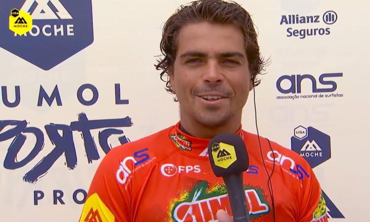 Eduardo Fernandes venceu dois 'heats' no dia de abertura do Sumol Porto Pro (®screenshot)