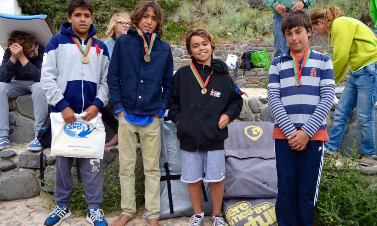Pódio Infantis Masculinos relativo ao 3º Encontro Regional, cuja final estava em atraso (®PauloMarcelino)