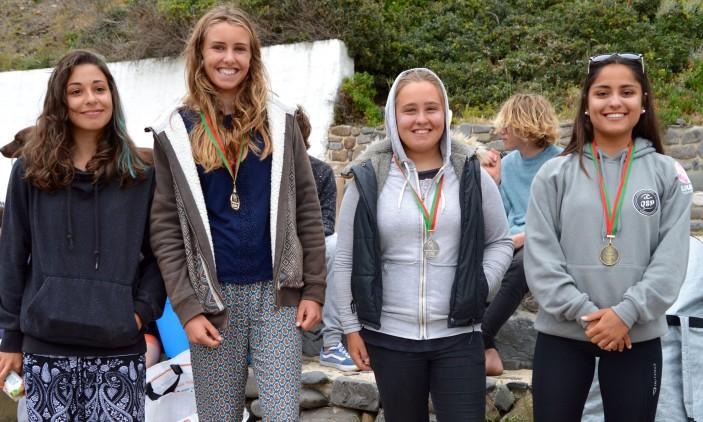 Arrifana   4º Encontro Regional Surf & Bodyboard Escolar   Pódio Surf Feminino (®PauloMarcelino)