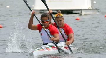 Maria Cabrita, atrás e Francisca Laia conquistaram a medalha esta quinta-feira, em Montemor-o-Velho (®Jose D'OliveiraSousa)