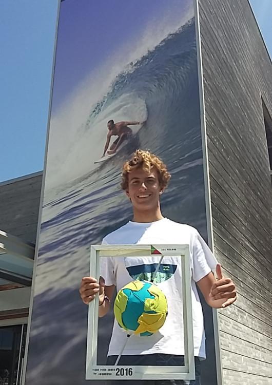 Luís Perloiro é um junior promissor, ocupando atualmente o 8º lugar no 'ranking' Junior Tour europeu da World Surf League (®ANSurfistas)