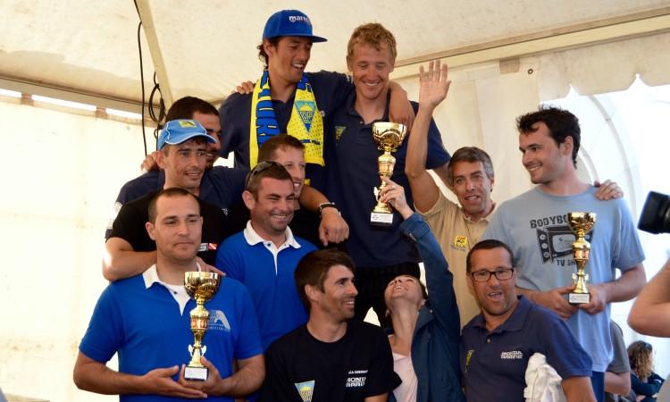 Pódio por clubes no Campeonato Nacional Individual de Pesca Submarina 2016 (®PauloMarcelino)