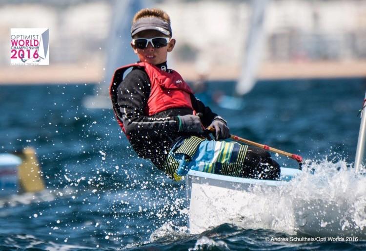 Richard Schultheis, de Malta, vencedor do Vilamoura Trophy (®AndreaSchultheis/OptimistWorlds2016)