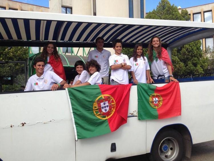 Equipa de Portugal em Crotone, com os algarvios Manuel Fortunato, à esquerda, e Beatriz Cintra, segunda da direita (®DR)