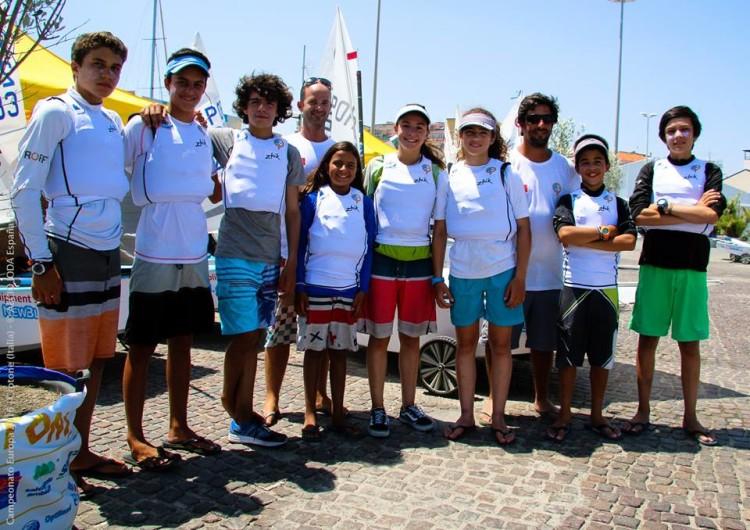 Equipa de Portugal ao Europeu de Optimist em Itália começou este domingo a 'luta' na água (®FPV)
