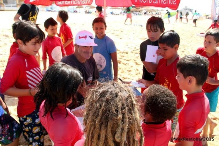 Garrett McNamara esteve na Praia de Faro, em julho do ano passado (®WaxRestobar)