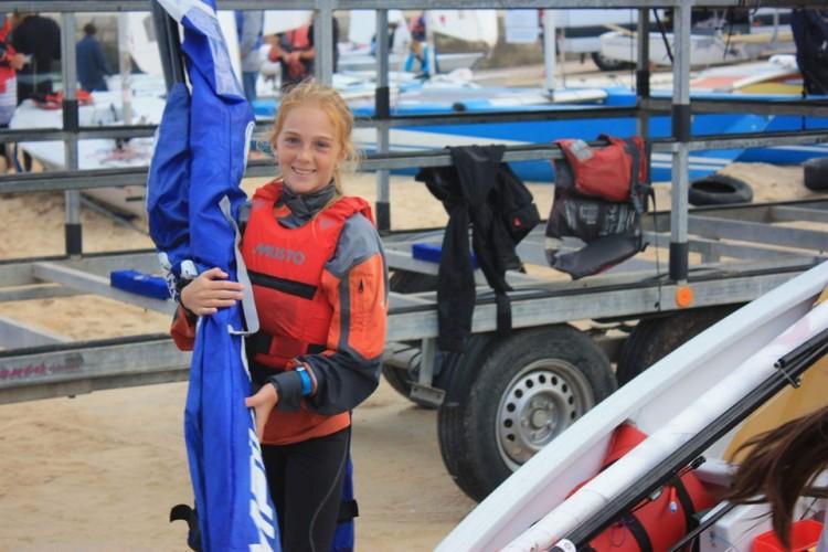 Viktoriya Kononova apurou-se mas não vai ao Europeu de Optimist. Várias circunstâncias ditaram esse desfecho (®DR)
