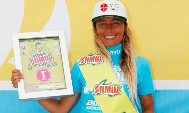Algarvia Joana Schenker venceu as duas últimas edições do Miss Sumol Cup em bodyboard (®DR)