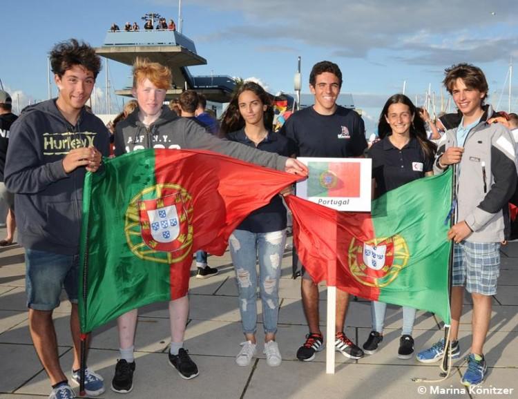 Equipa de Portugal em Kiel, com os algarvios Bruna Carvalho, Daniela Miranda e André Granadeiro (®MarinaKonitzer)