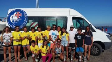 Comitiva do CNPortimão em destaque na Subida e Descida do Guadiana: 7 atletas no top 10 Optimist e 2 no pódio da geral com tempo corrigido (®DR)