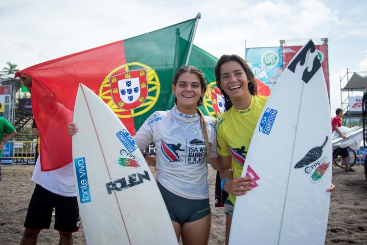 Carol Henrique e Teresa Bonvalot avançaram juntas para os quartos-de-final no quadro principal feminino (®Jimenez/ISA)
