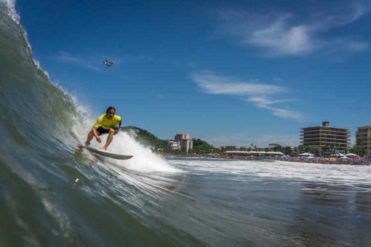 Guilherme Fonseca realizou uma excelente prova na Praia de Jacó (®Evans/ISA)