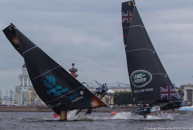 Sail Portugal - Visit Madeira arriscou em São Petersburgo e chegou ao fim do primeiro dia em 4º na geral (®RodrigoMRato/SailPortugal)