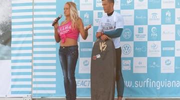 Gonçalo Pinheiro entrou a ganhar em Viana do Castelo e depois perdeu na ronda 4 da etapa do mundial APB (®Tomane/APB)