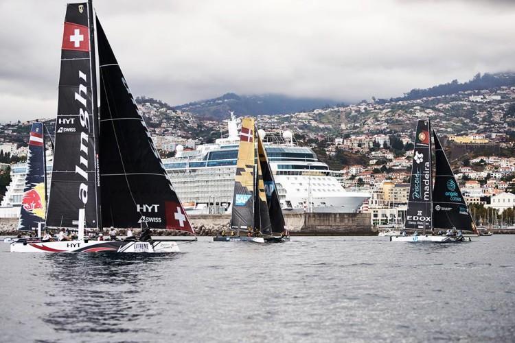 Primeiro dia de ação na Madeira ficou marcado por pouco vento (®HenriqueSeruca/SailPortugal)