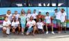 Catorze atletas, efetivos e suplentes; o grupo do PortimãoSC de partida, esta manhã, para a Figueira da Foz (®PauloMarcelino)