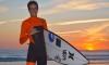 Algarvio Francisco Duarte após a primeira surfada na Praia da Rocha como 'team rider' Hurley Portugal (®PauloMarcelino)