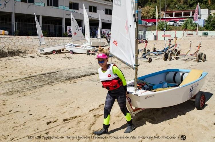 Érica Porto, do CNTavira, chegou a comandar o Grupo Infantis. Terminou em 4º, igual a 1º Feminino, e sagrou-se Campeã de Portugal Infantis Feminino (®GoncaloMelo/FPV)