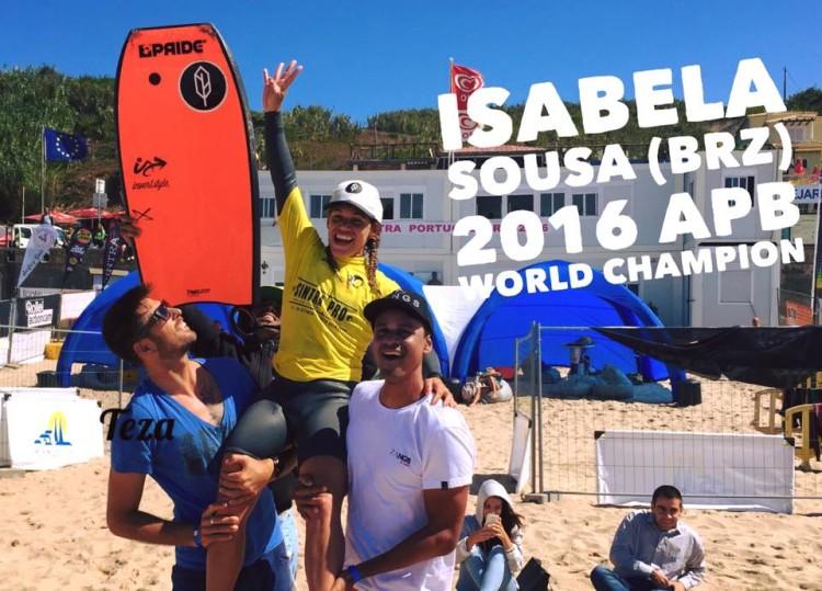 Isabela Sousa garantiu o título mundial feminono 2016 ao vencer Teresa Almeida nas meias-finais em Sintra (®APB)