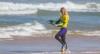 Mesmo a recuperar de uma paragem de digestão, a algarvia superou duas adversárias difíceis e apurou-se para a final da etapa do mundial na Praia Grande (®JoaoAraujo/APB)