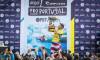 John John Florence ergue o troféu de Campeão WSL no pódio em Peniche (®WSL/Poullenot/Aquashot)