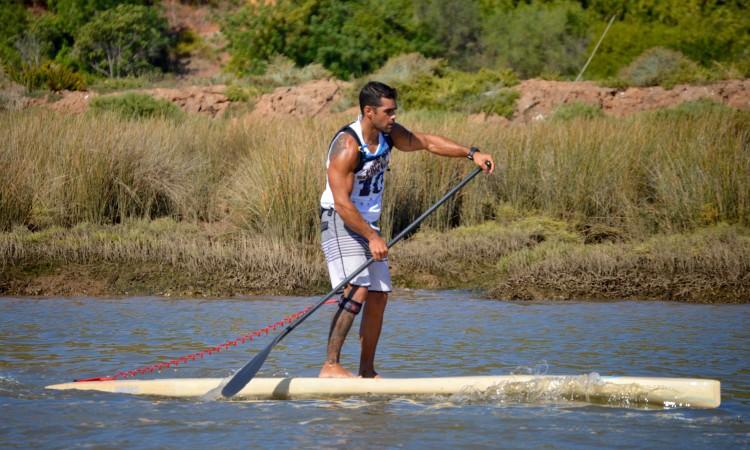 Tiago Dinis, vencedor na modalidade SUP (®PauloMarcelino)