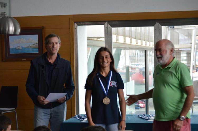 Algarvia Daniela Miranda, 1º Lugar Feminino 4.7 Cascais Laser Europa Cup 2016, 1ª PAN 2016/2017 (®CNCascais)
