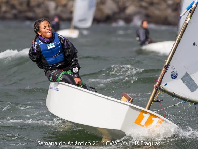 Algarvia Beatriz Cintra em plena ação em Viana do Castelo, onde venceu a 1ª Etapa Semana do Atlântico (®LuisFraguas/CVVianaCastelo)
