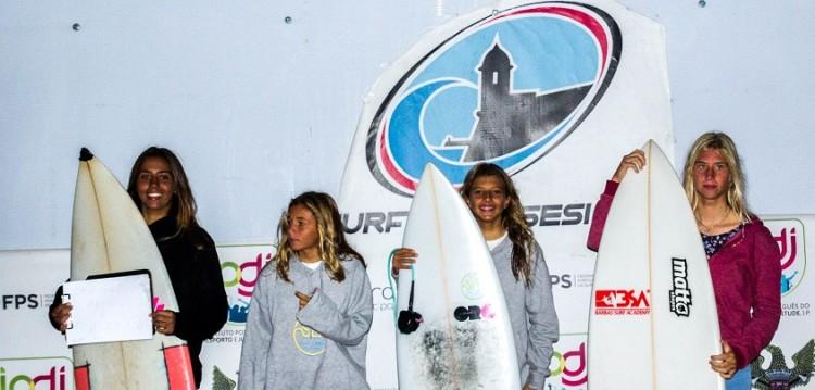 Pódio Sub-18 Feminino, com Joana Carvalho, atleta do CNPortimão, no 1º lugar (®SCS)