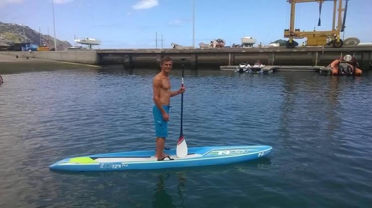 João Rodrigues, recordista em participações olímpicas em prancha à vela, está na equipa SUP NSP Portugal (®NSP)