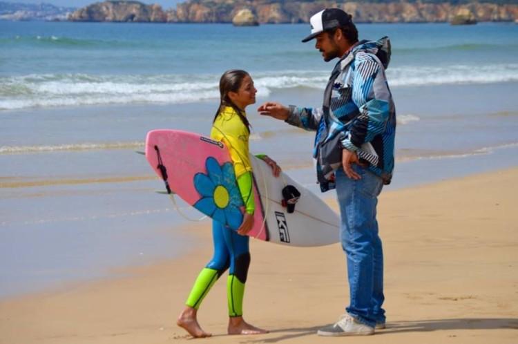 Joana Carvalho vai competir em Sub-16 Feminino. Será a sua primeira finalíssima nacional de surf (®PauloMarcelino/arquivo)