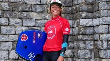 Joana Schenker venceu hoje o Zumaia BB Pro 2016, penúltima etapa do circuito europeu ETB (®ESF)