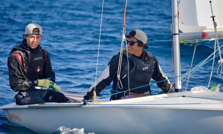 Afonso Rodrigues & Martim Sancho alcançaram a segunda vitória consecutiva em 420 (®PauloMarcelino)