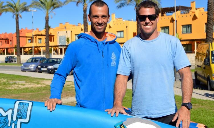 Algarvio Miguel Martinho, à esquerda, e o argentino Gonzalo Costa Hoevel treinaram juntos durante dois dias (®PauloMarcelino)