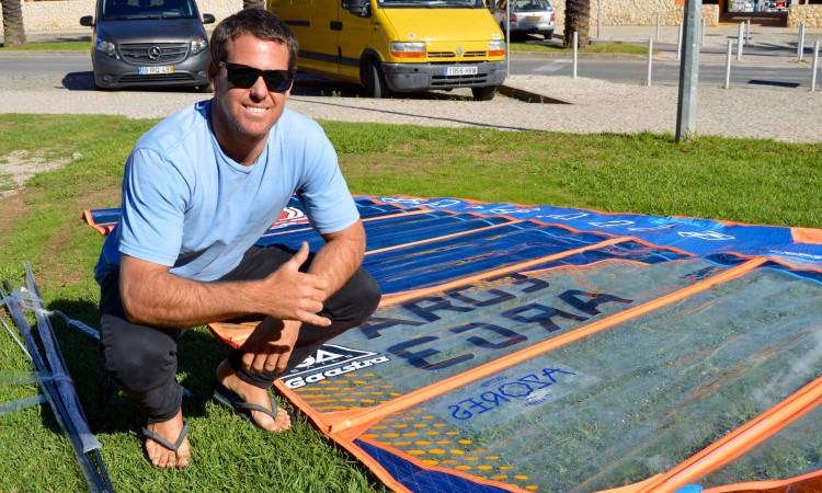Gonzalo Costa Hoevel, argentino, é o Campeão do Mundo de Formula Windsurfing em título (®PauloMarcelino)