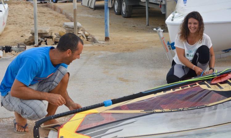 Miguel Martinho e Margarida Gil Morais são os melhores atletas, masculino e feminino, de Formula Windsurfing em Portugal (®PauloMarcelino)