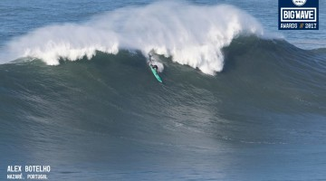 Alex Botelho numa das bombas que rolou na Praia do Norte, no sábado 17 de dezembro (®WSL)