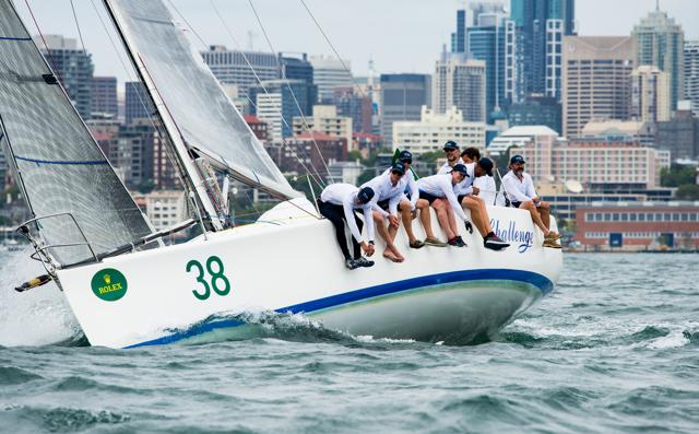 'Challenge', o Sydney 38 a bordo do qual o algarvio Luís Brito vai entrar, pelo segundo ano consecutivo, na regata Sydney-Hobart (®Lachlan Murnaghan/MurnaghanMedia)