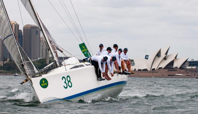 O Challenge em treinos, em Sydney, a poucos dias da largada para Hobart (®LachlanMurnaghan/MurnaghanMedia)
